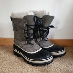 Sorel Caribou Winter Boots Grey Womens 7.5